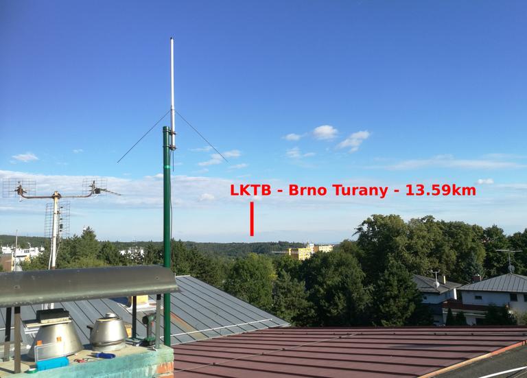 Photo of antenna mounting for LKTB (Brno - Turany, CZ)